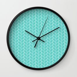 Leaf Aqua Wall Clock