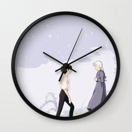 The Wizard and the Hatter Wall Clock