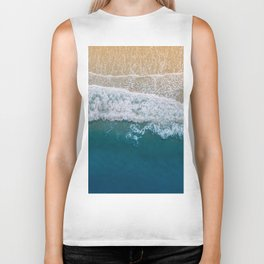 Water on the Beach (Color) Biker Tank