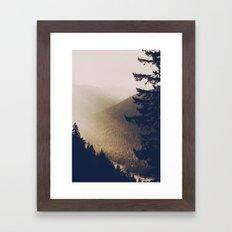 Sunrise in the Mountains  Framed Art Print