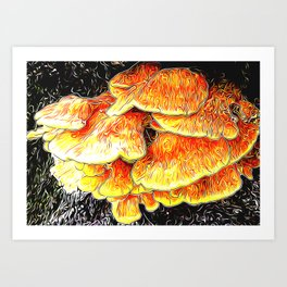 Fried Chicken of the Woods Art Print