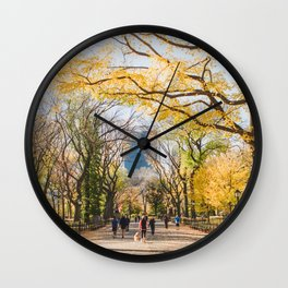 Golden in Central Park Wall Clock