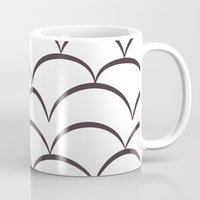 house stark Mugs featuring Stark Scales by SonyaDeHart