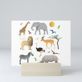 Safari Savanna Multiple Animals Mini Art Print