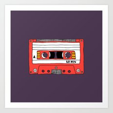 Vintage Mix Tape // Purple and Pink Art Print