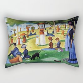 A Sunday Afternoon on the Island of La Grande Jatte Rectangular Pillow
