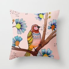 melodie in blush Throw Pillow