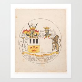 Design (1) for alliance weapon, Jan Brandes, 1743 - 1785 Art Print