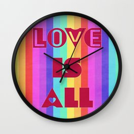 Love is all Wall Clock