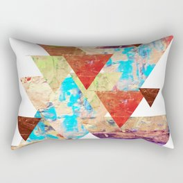 More than gold triangles Rectangular Pillow