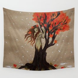 Fall Dryad Wall Tapestry