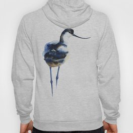 Blue Wash Watercolor Pattern - Avocet Hoody