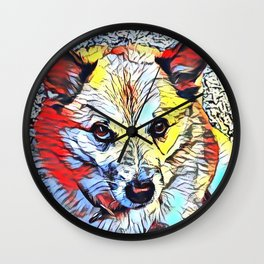 Color Kick - Dog (R) Wall Clock