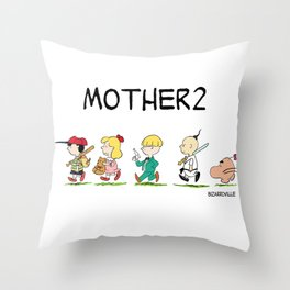 Ness and His All Stars Throw Pillow