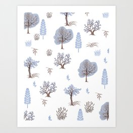 Trees Bushes Branches and Leaves Art Print