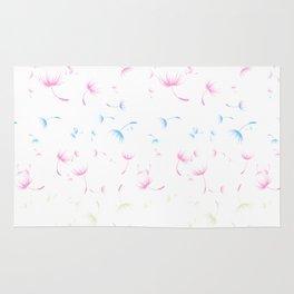 Dandelion Seeds Transgender Pride (white background) Rug