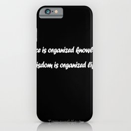 Immanuel Kant quote iPhone Case