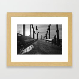 Port Vell Dawn Framed Art Print
