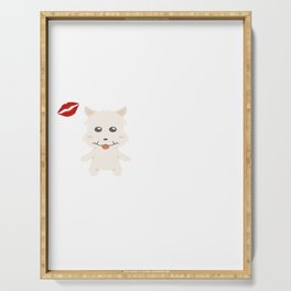 I Kissed A Westie And I Liked It Cute Dog Kiss Gift Idea Serving Tray