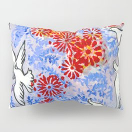 Floral Doves  #society6 #decor #buyart Pillow Sham