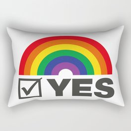 Vote Yes! - Rainbow Tick Rectangular Pillow
