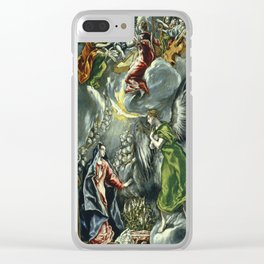 "El Greco (Domenikos Theotokopoulos) ""The Annunciation (1597 - 1600)"" Clear iPhone Case"