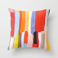 library Throw Pillows featuring Library by Emily Rickard