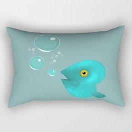 Silent as a Fish Rectangular Pillow