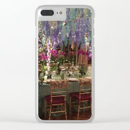 Christmas Dinner Table Clear iPhone Case