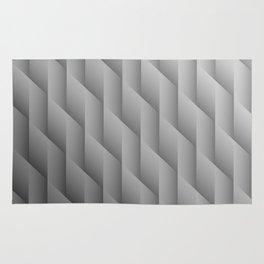 Gradient Gray Diamonds Geometric Shapes Rug