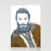 beard Stationery Cards featuring beard by katiwo