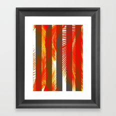 RED PALMS Framed Art Print