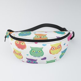 Rainbow Owl Cuties Fanny Pack