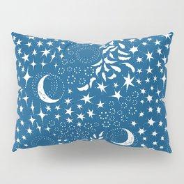 Moon Among the Stars - Classic Blue Pillow Sham