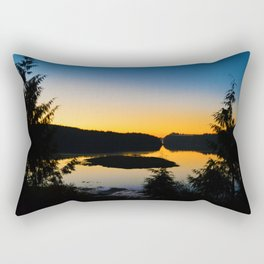 Sunrise in Ucluelet on Vancouver Island, BC Rectangular Pillow