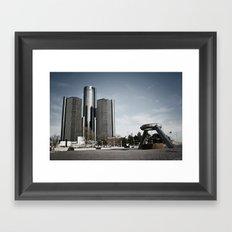 Detroit's Hart Plaza Framed Art Print