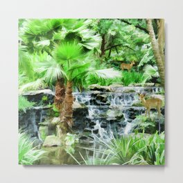 Peaceful forest life Metal Print