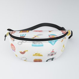 CUTE PIRATES PATTERN (PIRATE SHIP CHARACTERS) Fanny Pack