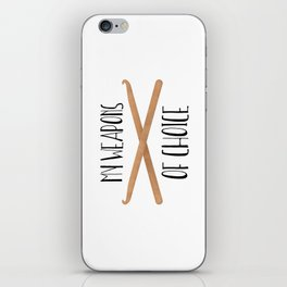 My Weapons Of Choice  |  Crochet Hooks iPhone Skin