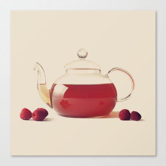 Raspberry Tea (Retro and Vintage Still Life Photography) Canvas Print