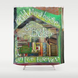 House of Books Shower Curtain