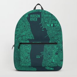 iconic new york city map Backpack
