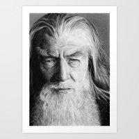 gandalf Art Prints featuring Gandalf by scottmitchell