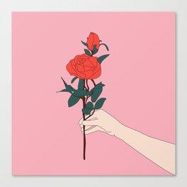 Brin de roses Canvas Print