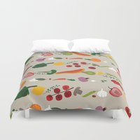 vegetarian Duvet Covers featuring Vegetarian pattern by Darish