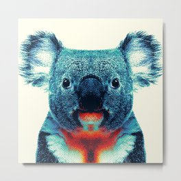 Koala - Colorful Animals Metal Print
