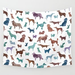 Doggies all over Wall Tapestry