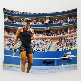 Naomi Osaka Tennis Champion Wall Tapestry