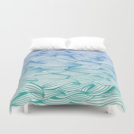 Ombré Waves Duvet Cover