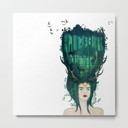 Rococo: My lady of the wilderness Metal Print
